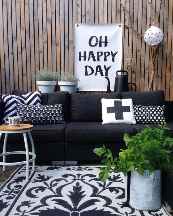 Garden poster Happy Day Outdoor poster Happy Day