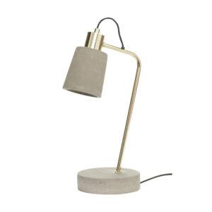 Hübsch table lamp concrete villa madelief