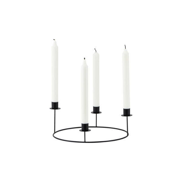 House Doctor candlestand Ring black Villa Madelief