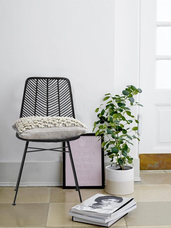 bloomingville stoel zwart lena villa madelief