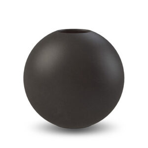 Round vase black Cooee Design 10 cm