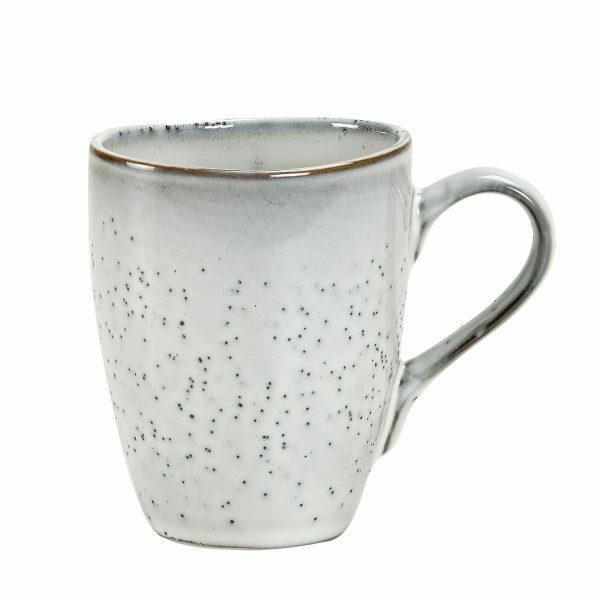 Nordic sand mug with handle Broste Copenhagen Villa Madelief