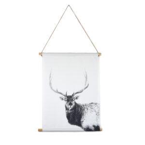 Textile poster deer Villa Madelief