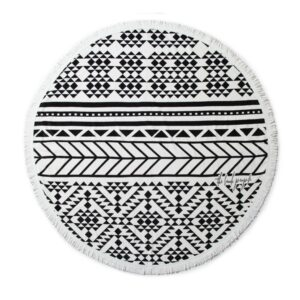 Beach Roundie black and white The Aztec