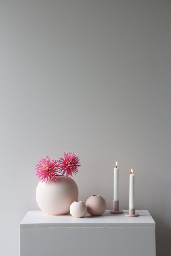 Pink ball vase Cooee Design