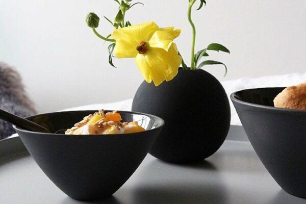 Black ball vase Cooee Design