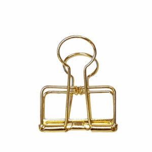 Paper clamp gold 3cm Villa Madelief