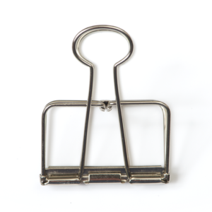Monograph binder clip 5 cm zinc Villa Madelief