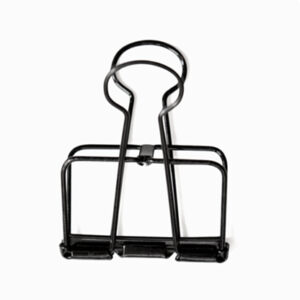 Black wire clip 5 cm binder clip Villa Madelief