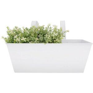 White balcony flower pot Villa Madelief
