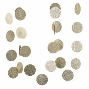 Circle garland gold glitter