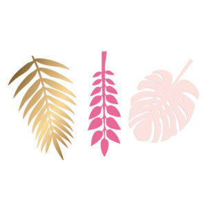 Deco leaves gold pink delight department