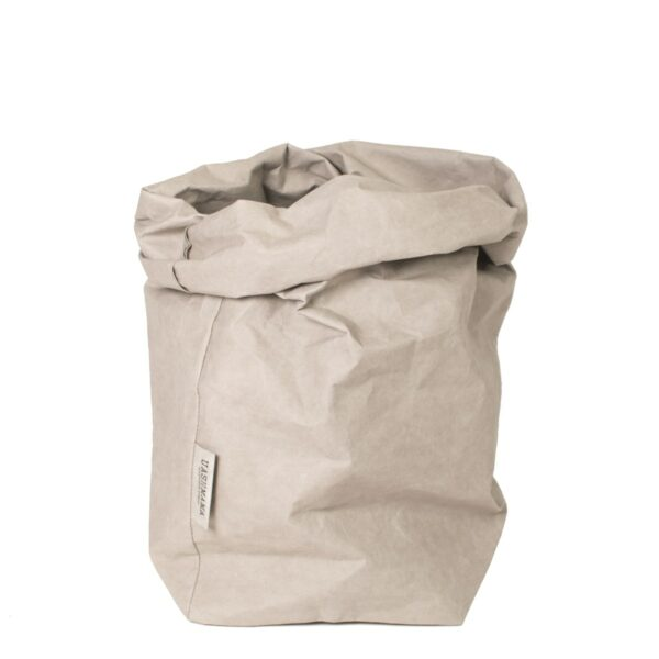 Uashmama paper bag grey extra large villa madelief