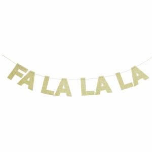 Letterbanner FALALA gold