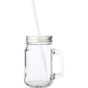 mason jar glass with straw villa madelief