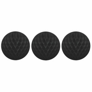 Honeycomb black set of 3