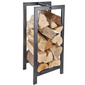 Wood storage rack black Villa Madelief