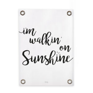 black and white garden poster I'm walkin' on sunshine FIKA Living