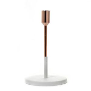 Serax candlestick white copper