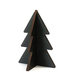 Trendy Christmas tree black wood