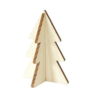 Mini Christmas tree natural wood