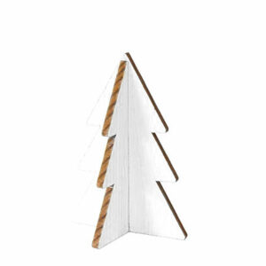 Trendy Christmas tree white wood 12 cm