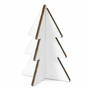 Christmas tree white wood 15 cm
