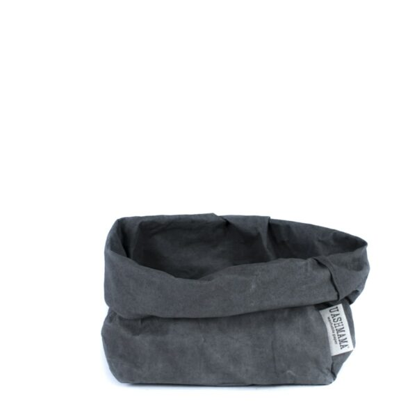 Dark grey paperbag Uashmama large villa madelief
