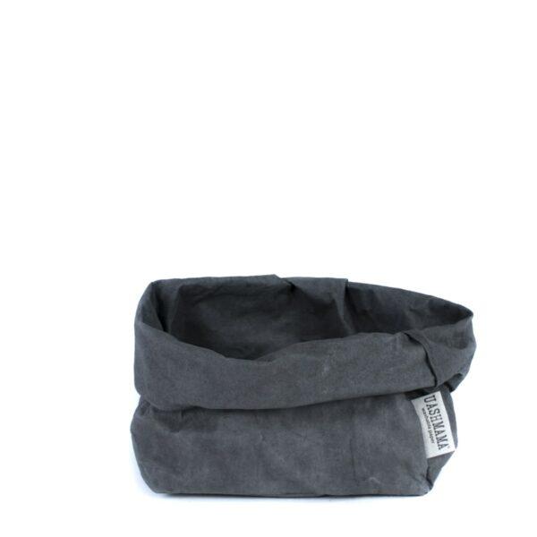 Dark grey paperbag Uashmama large villa madelief