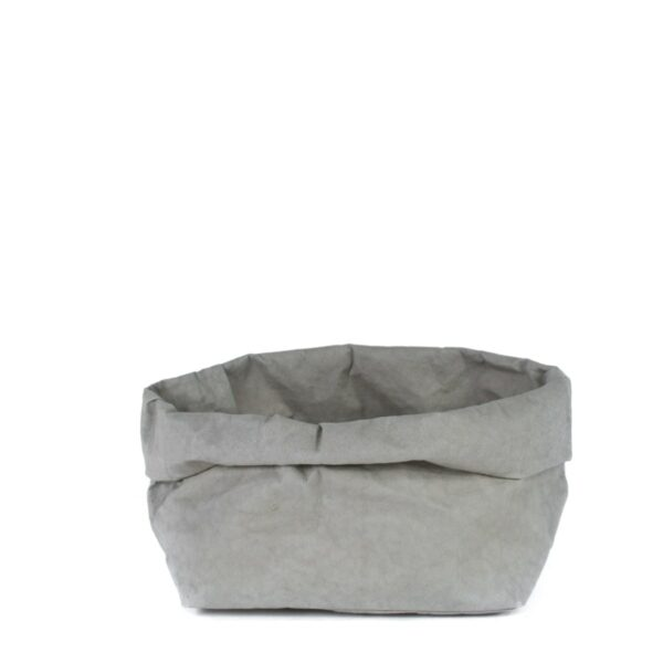 Uashmama paper bag grey large villa madelief