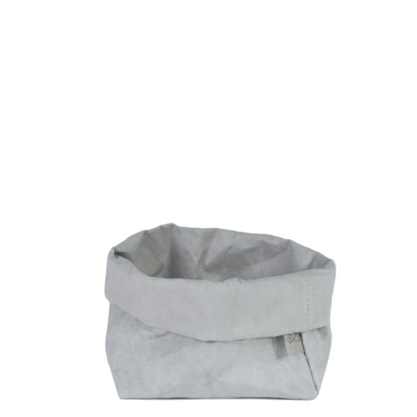 Uashmama paper bag grey medium villa madelief