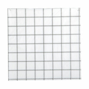 Black and white napkins grid
