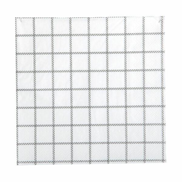 Black and white napkins grid