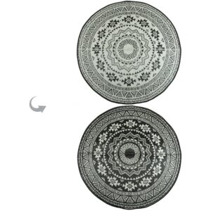 Round outdoor rug monochrome villa madelief