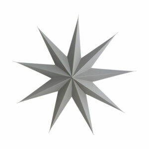 paper christmas star grey house doctor