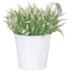 Flower pot with hook white villa madelief
