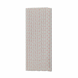 Paper straws white with pink dots