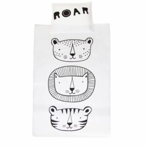 Black and white duvet cover Roar villa madelief