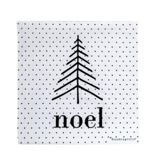 Trendy black and white Christmas napkins