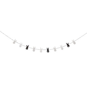 Black and white garland Easter