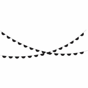 Garland black half circle
