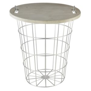 Table basket wood metal Villa Madelief