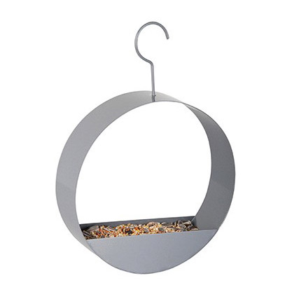 Trendy bird feeder round grey