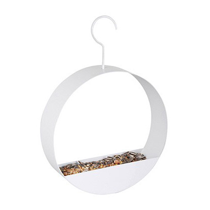 Trendy bird feeder round white