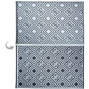 Monochrome outdoor rug graphic