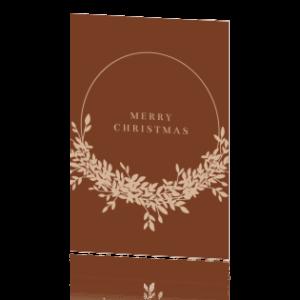Huis van Mijn kaart Merry Christmas krans Villa Madelief