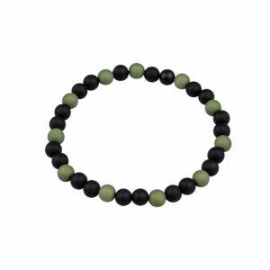 Kralenarmband zwart groen